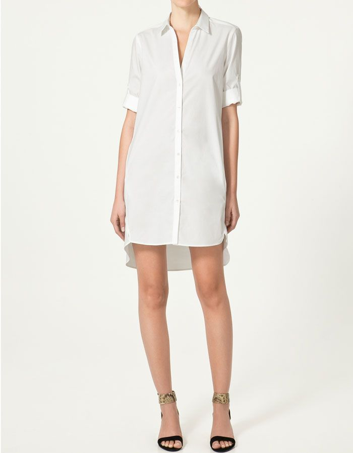 88b43ce7 zara t-shirt dress | dress | Zara dresses, Zara shirt, Dresses