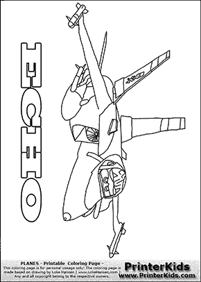 Panes - Echo #1 Flying Machine - Coloring Page based on Disney ...