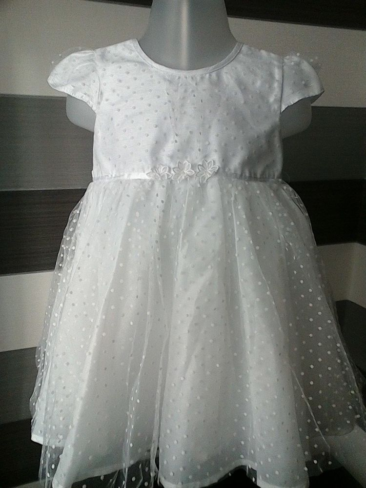 Baby girls white debenhams occasion dress 69 months