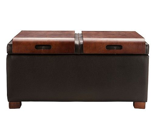 Woodworth Lift-Top Storage Ottoman
