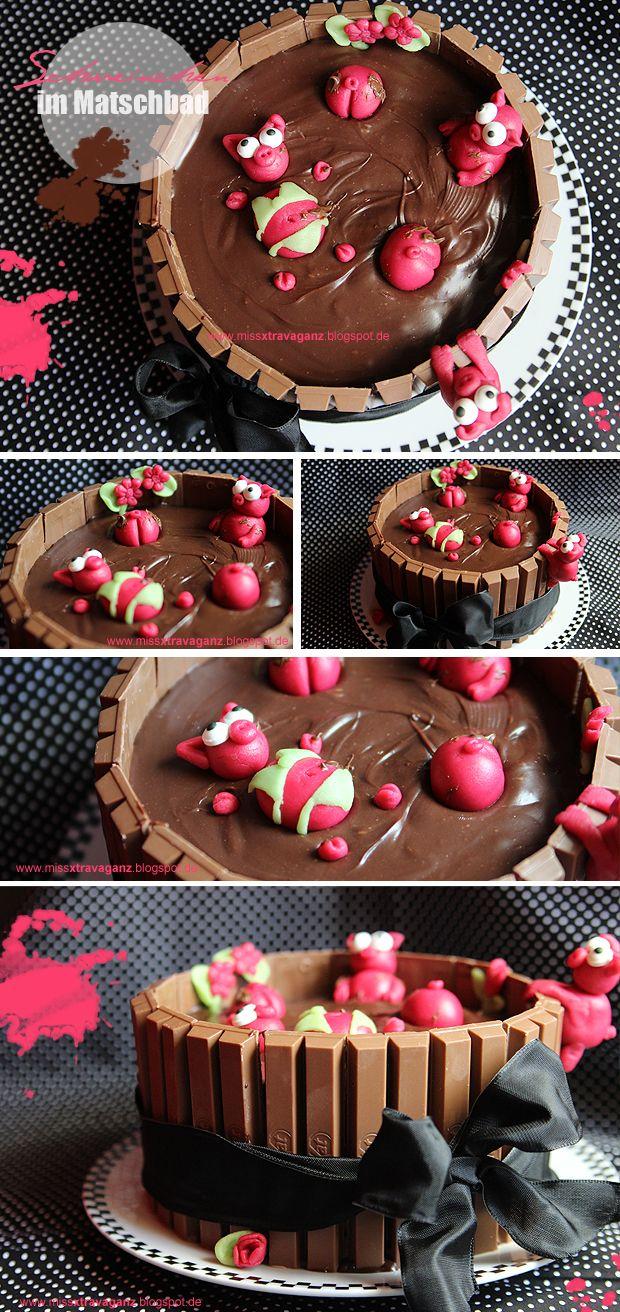 Schweinchen Im Schokoladen Matsch Bad Kuchen Rezepte Pinterest
