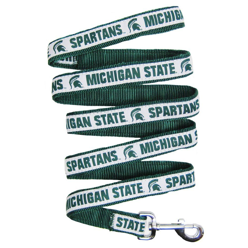 Michigan State University Nylon Ribbon Dog Leash