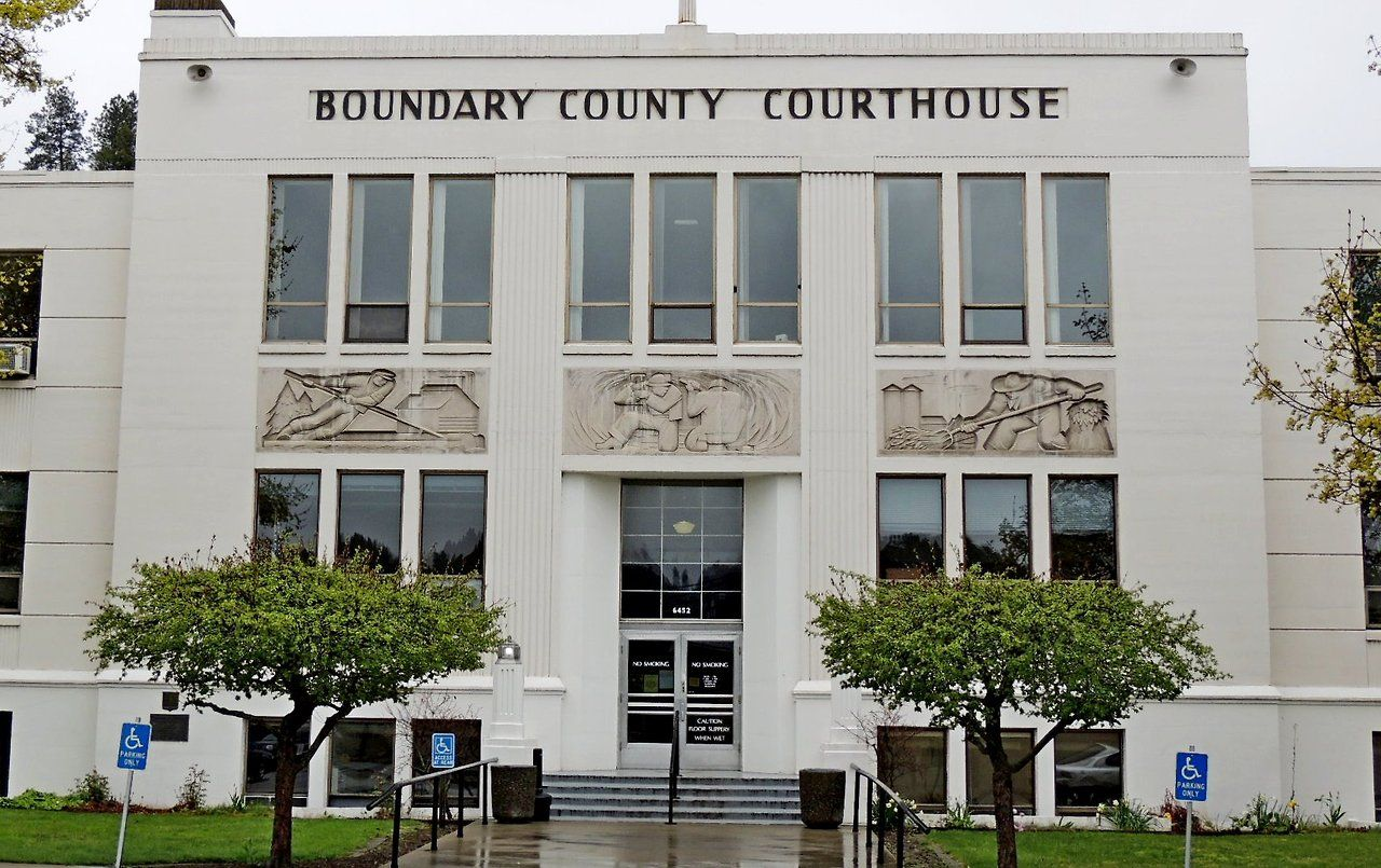 Boundary County Courthouse Bonners Ferry Idaho Artdeco Architecture