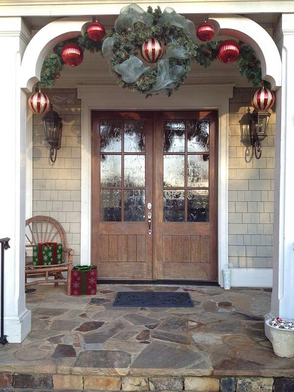 56 Amazing front porch Christmas decorating ideas Pinterest - decoracion navidea para exteriores de casas