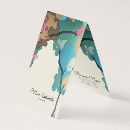 Flowers In Watercolors Paper Size Options Business Card