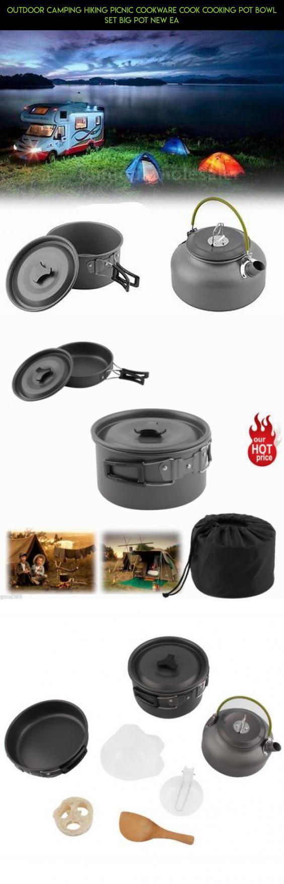 Outdoor camping hiking picnic cookware cook cooking pot bowl set big