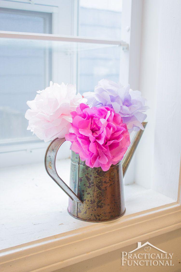 DIY Tissue Paper Flowers  Pinterest  Tissue paper flowers Tissue
