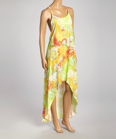 Look at this #zulilyfind! Yellow Pineapple Delight T-String Back Dress #zulilyfinds
