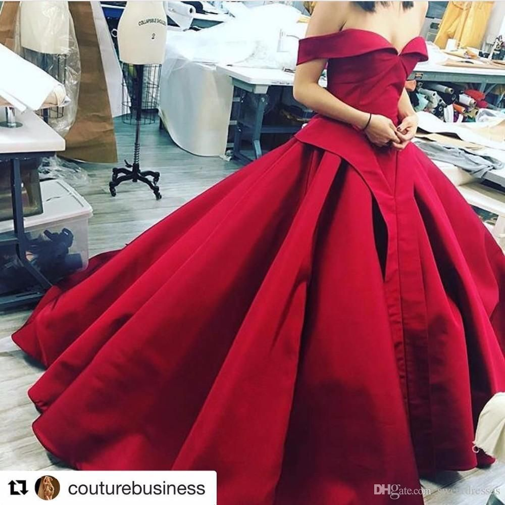 Image result for dark red ballgowns and sheath dresses wedding