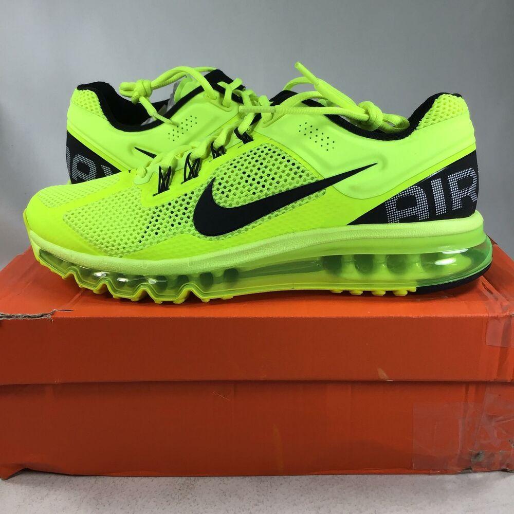 eBay Sponsored) Nike Air Max + 2013 Volt, black, white