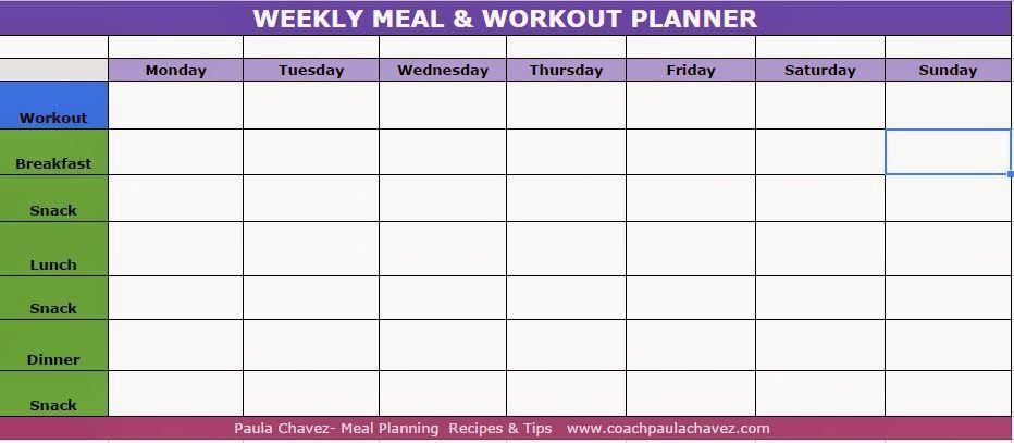 Workout Planner Template  Guiler Workout