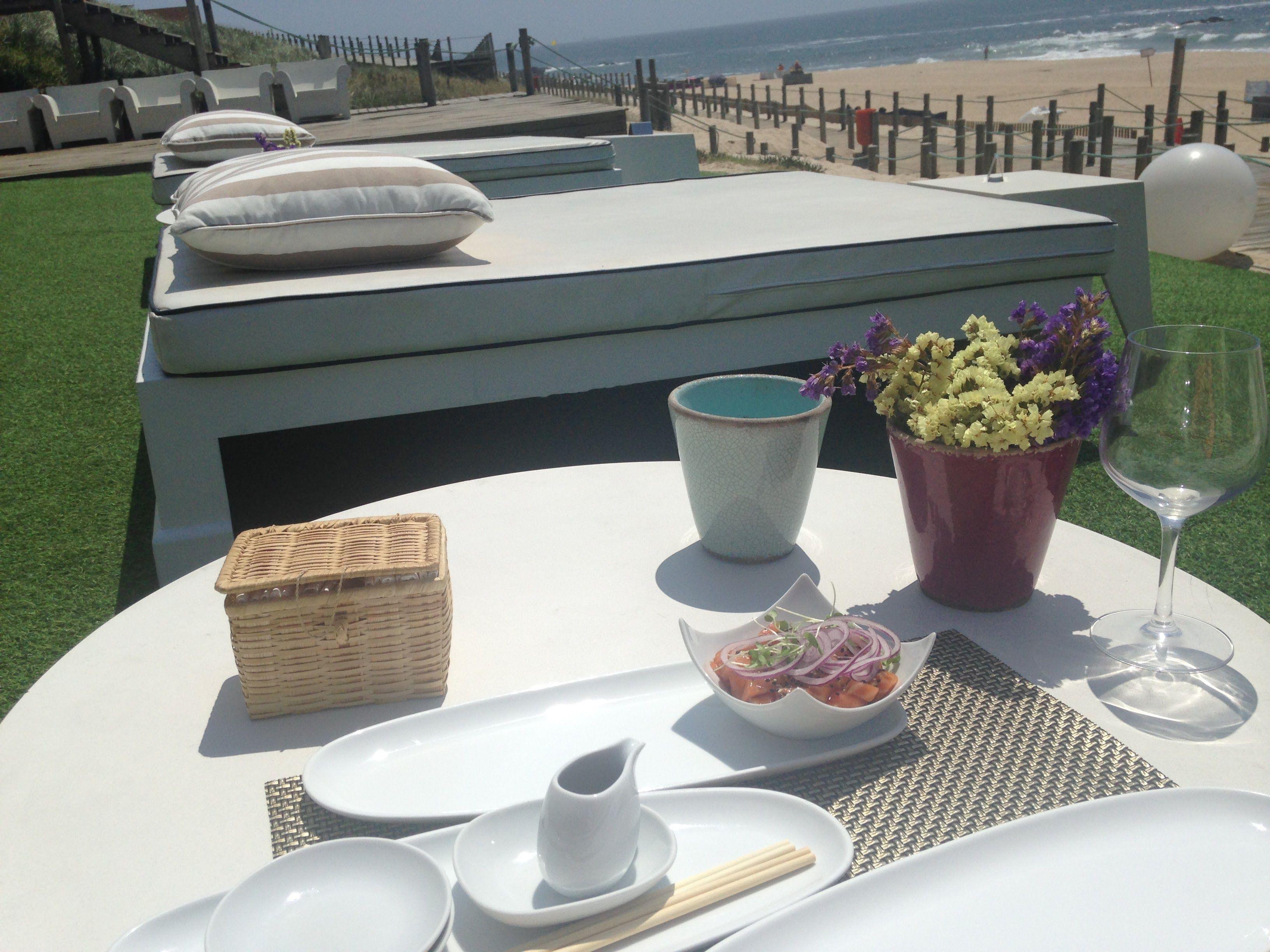 L Kodac día perfecto playa en Oporto y buen sushi con mucho estilo...en Playa do Aterro