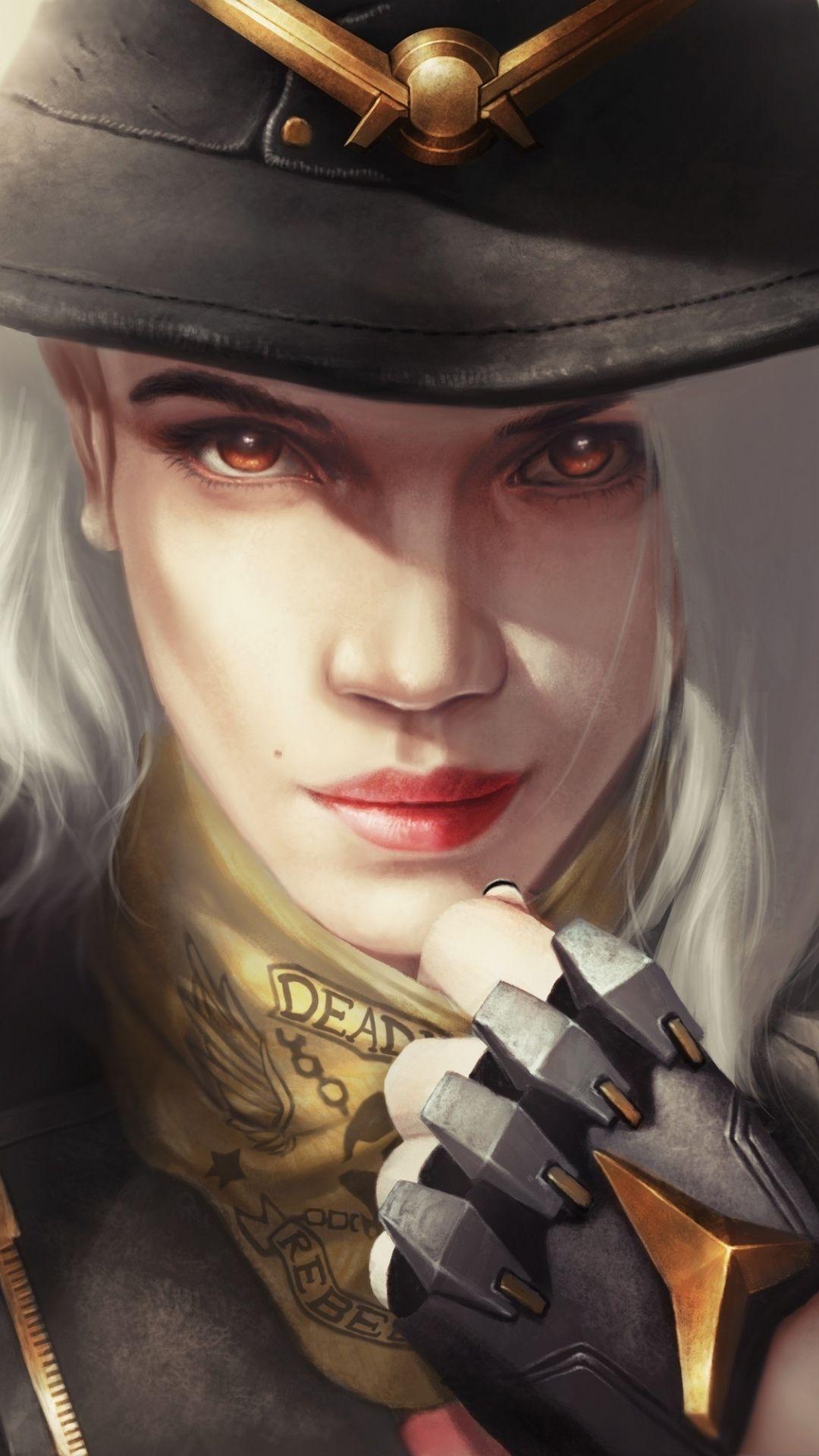 Ashe, warrior, overwatch, online game, 1080x1920 wallpaper