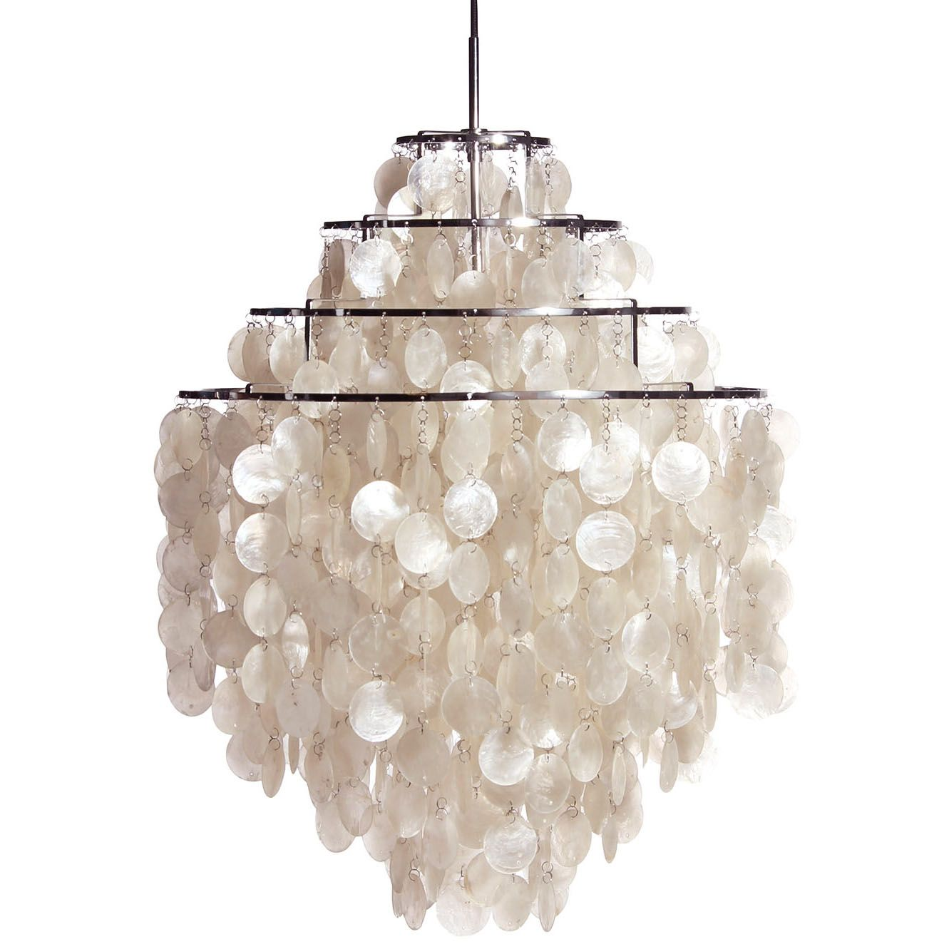 Large white fun 0 dm shell capiz shell chandelier pendant chandelier bella capiz ceiling light ceiling lights particularly antique ceiling light can make an excellent difference to the atmosp mozeypictures Image collections
