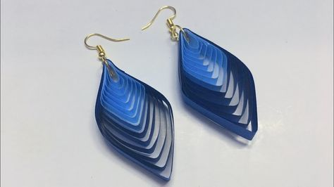 Photo of How to make quilled winged earrings from a quilling comb