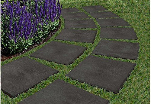 Recycled Rubber Garden Pavers Path Lawn And Backyard Landscaping