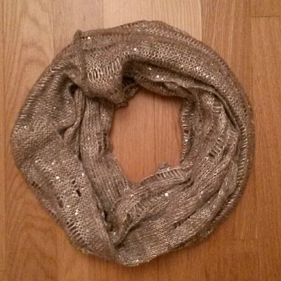 Express silver infinity scarf