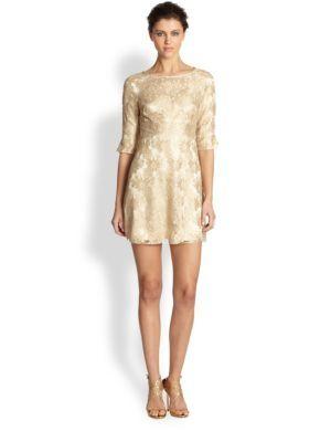 Haute Hippie - V-Neck Sequin Dress - Saks.com