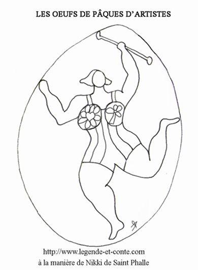 Coloriage Oeuf Danseuse De Jpg 390 531 Niki De Saint Phalle Coloriage Dessin