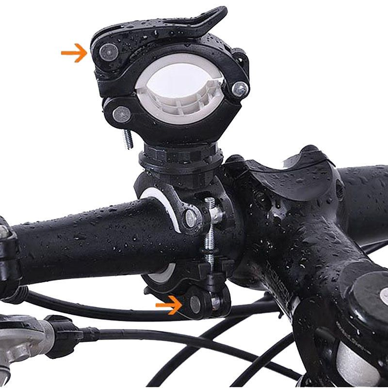 Cycling Bicycle Bike Handlebars Mount Holder for LED Flashlight Torch Clip Clamp