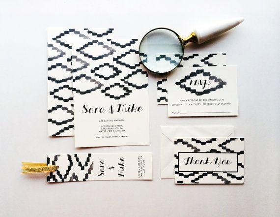 Art from Africa Wedding Invitation Suite  Printable Wedding