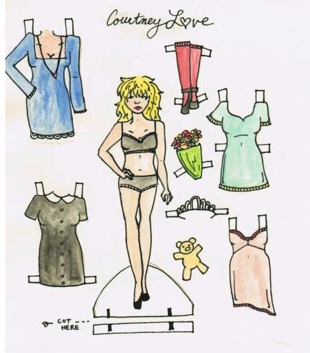 Courtney Love paper doll