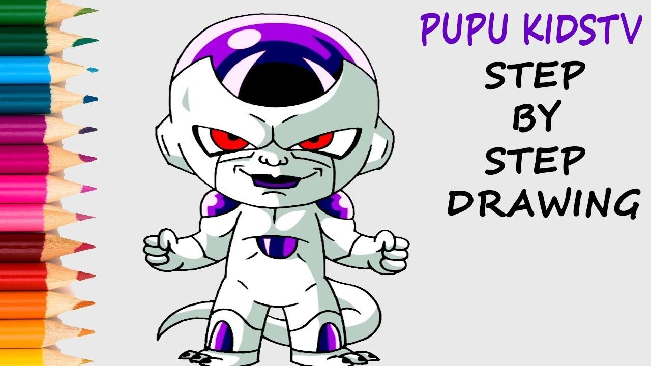 How to Draw Frieza From Dragon Ball Z Coloring Pages For Kids With ...