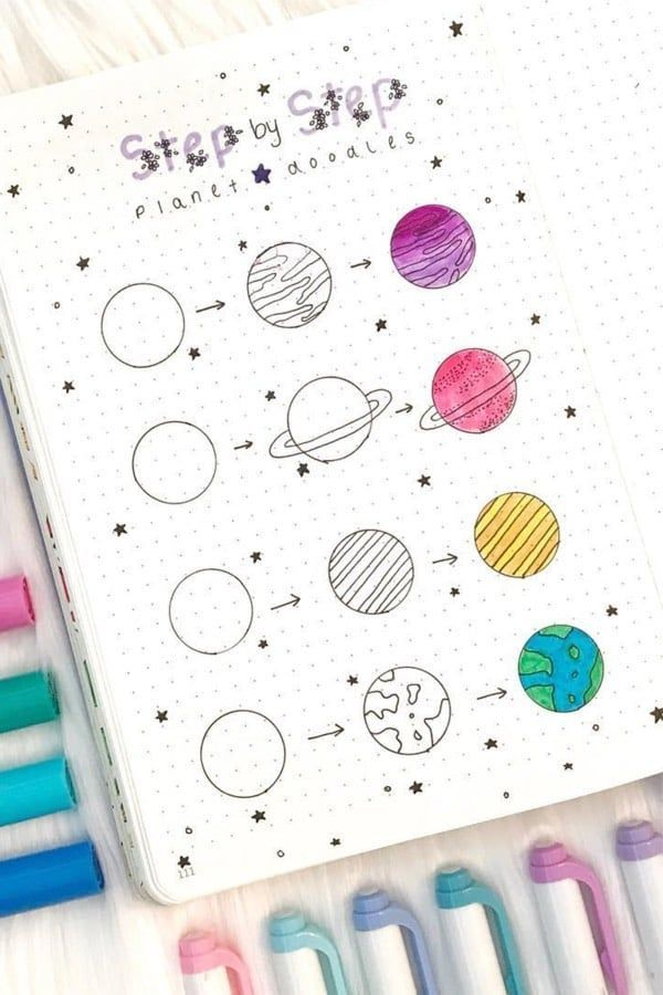 Step By Step Bullet Journal Doodle Tutorials Vol.1 - #Bullet #Doodle #getstarted #journal #Step