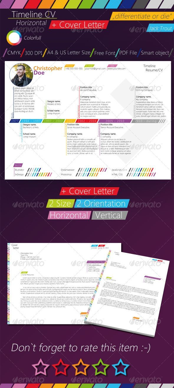 What Should I Name My Resume Magnificent Colorfull Timeline Resumecv  Resumes Stationery  Resume Skills .