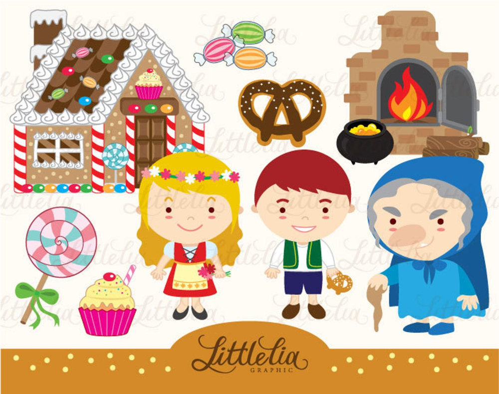 Hansel And Gretel Clipart Set Instant Download 14019 Etsy In 2020 Clip Art Fun Projects Library Decor
