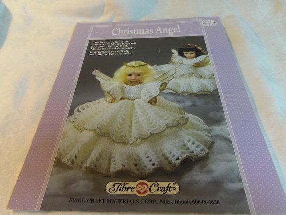 Fibre Craft Christmas Angel Crochet Pattern Doll Clothes For Music
