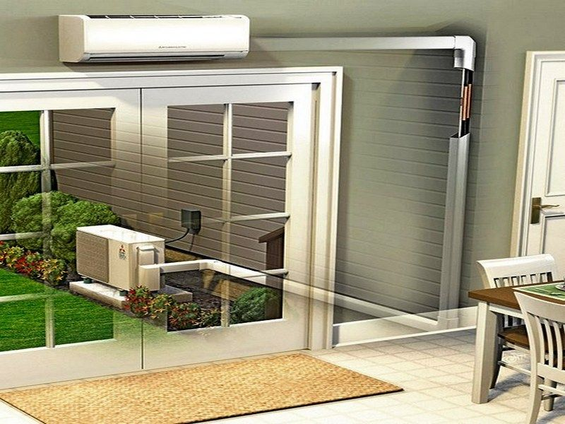 Above The Entrance Ductless Air Conditioner Some Reasons to Choose - installation d une climatisation maison