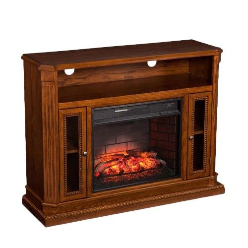 Bowery Hill Infrared Electric Fireplace Tv Stand Electric