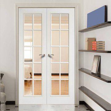 Glazed Door Elegant Internal White Glazed Lpd Sa 10l Double Doors1