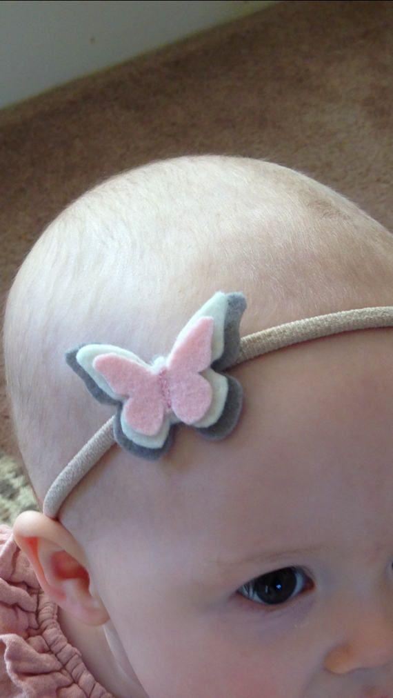 Organic Wool Felt Butterfly Headband