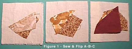 Instructions for a Crazy Quilt Patchwork Block
