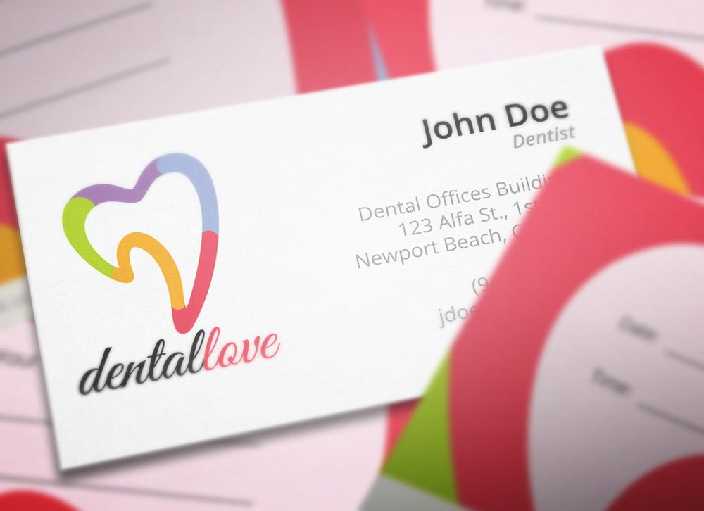 dental clinic business card design