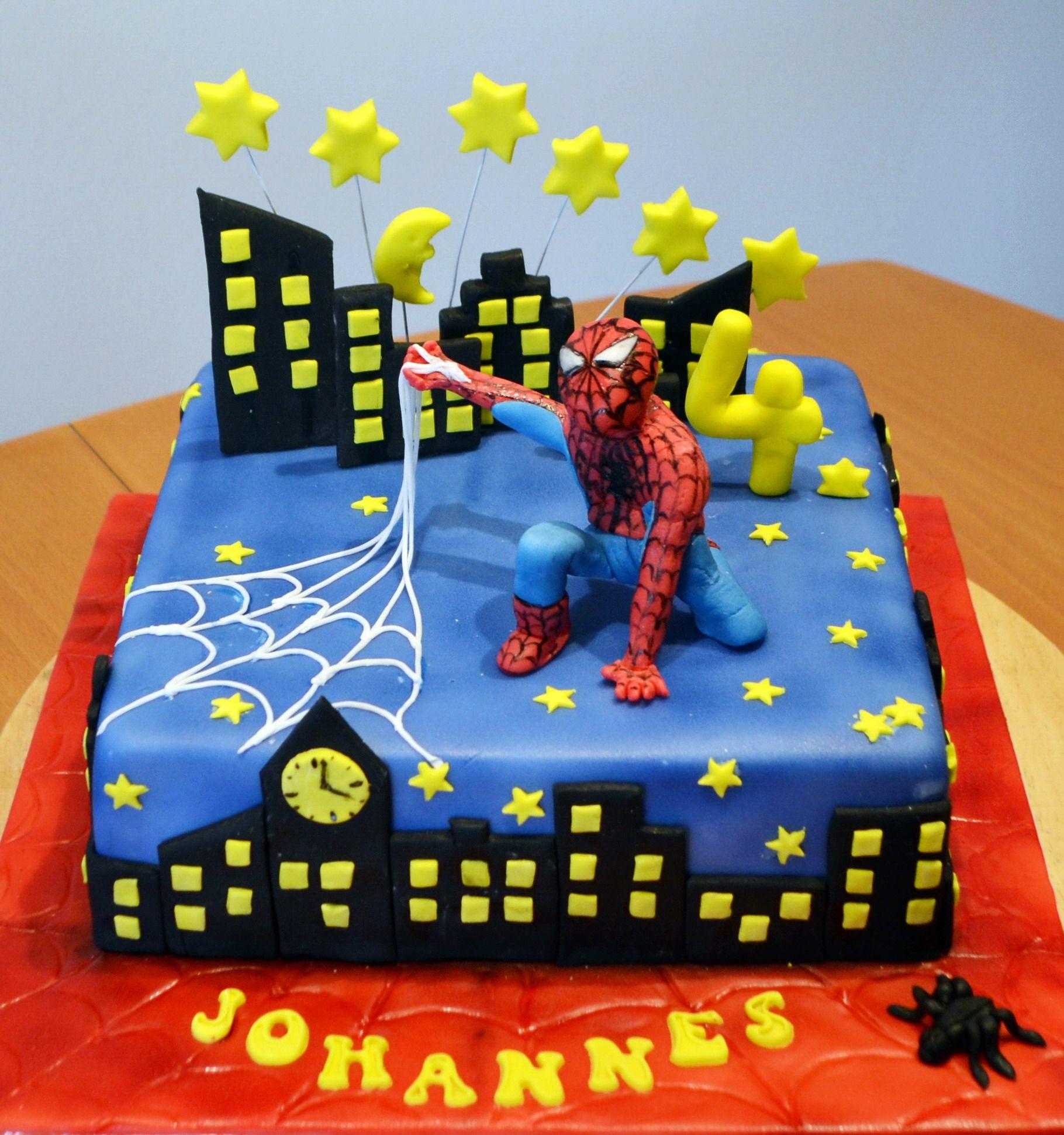 Spiderman Torte Birthday Cakes Motivtorten Torten Und Zucker
