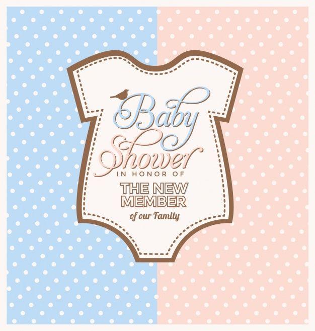 Attractive Diseño De Invitación De Baby Shower Vector Gratis