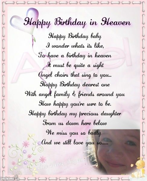Grief Unspoken Birthday In Heaven