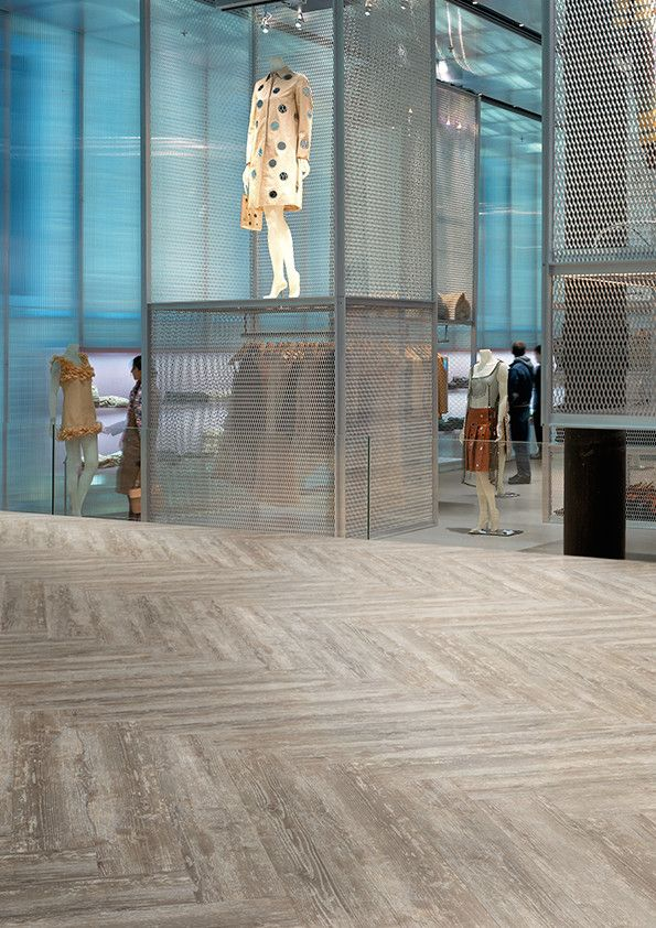 Shopping mall featuring Affinity255 Reclaimed Pine luxury vinyl ...