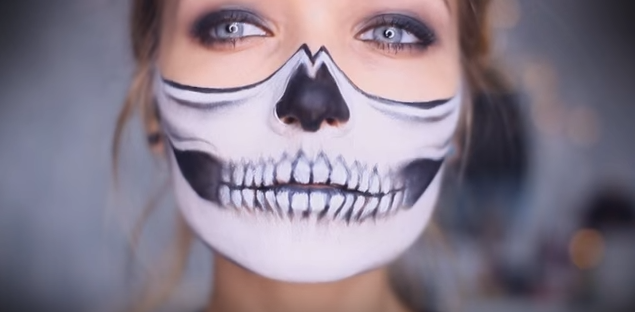 the gloss investigates is this halloween skull makeup tutorial really as easy as it looks - Halloween Skeleton Makeup Ideas