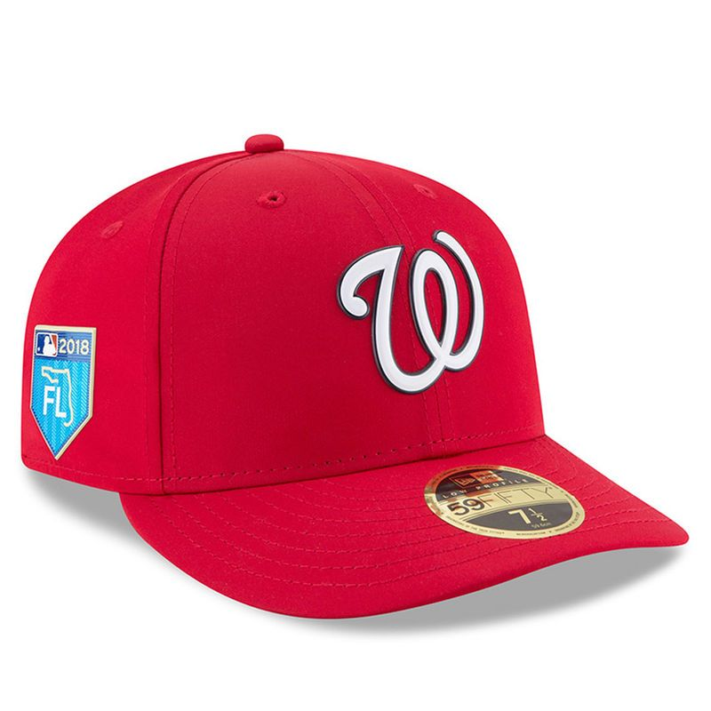 new styles b9871 90c06 Washington Nationals New Era 2018 Spring Training Collection Prolight Low  Profile 59FIFTY Fitted Hat – Red