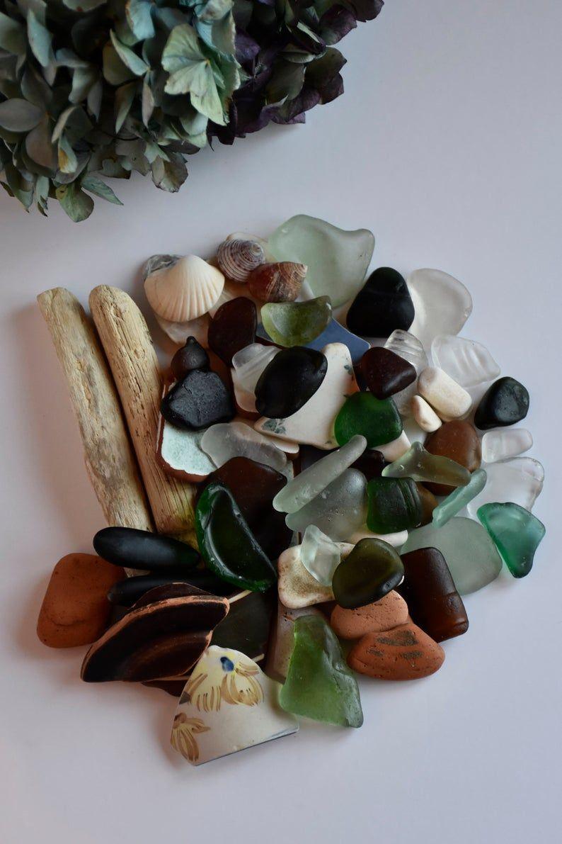 Iris Sea Fairy Box. Authentic Irish sea glas, sea pottery and beach treasures in a box.