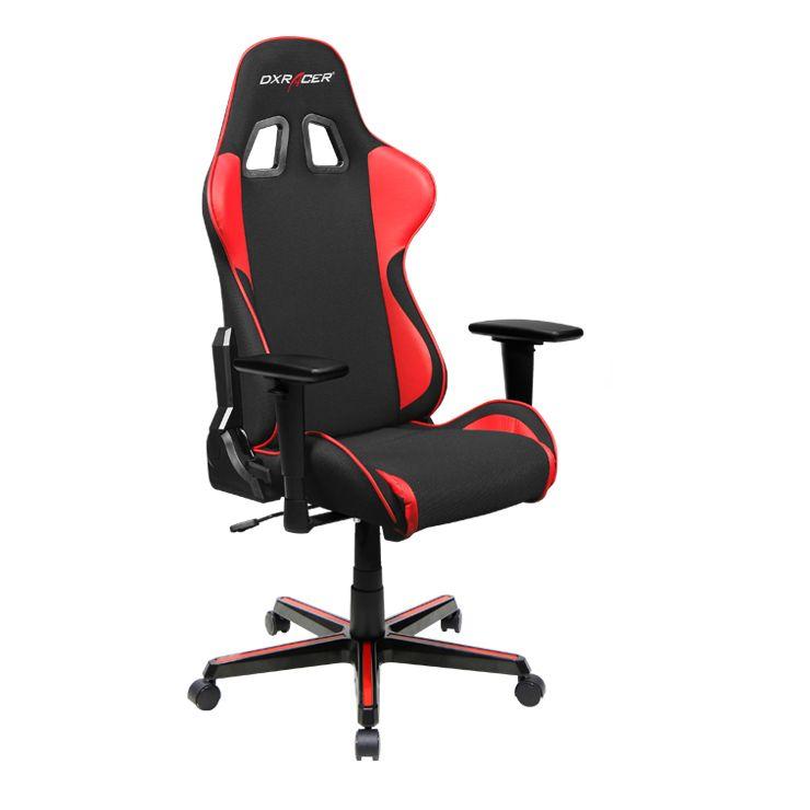 Dxracer Oh Fh11 Nr High Back Ergonomic Office Desk Chair Strong Mesh Black Red