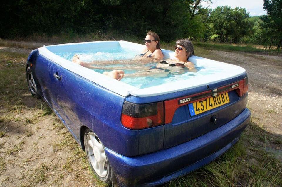 #upcycling pool right inside your backyard