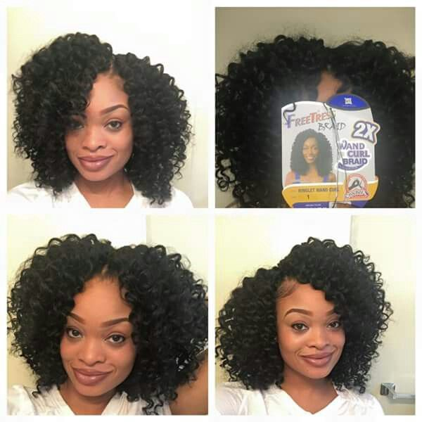 Wand Curl Crochet Bob With Images Curly Crochet Hair Styles