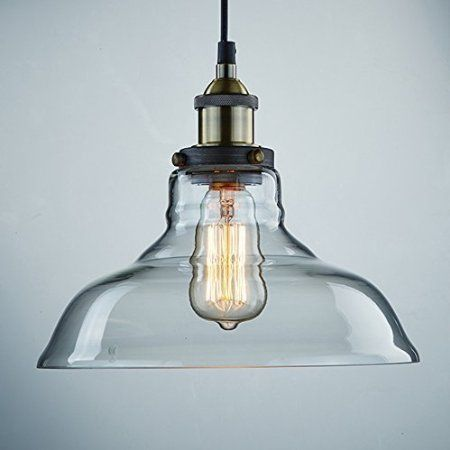 vintage lighting pendants. These Are Only 50$ On Amazon: Ecopower Industrial Edison Vintage Style 1-Light Pendant Glass Hanging Light Lighting Pendants I