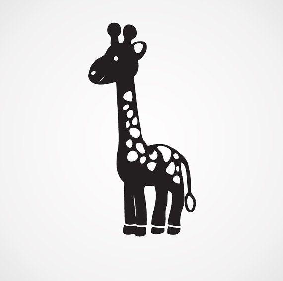 Baby Giraffe Decal Vinyl Sticker Newborn Nursery Car Window Laptop Vinyl Decals Newborn Nursery Phone Decals Vinyl Decals