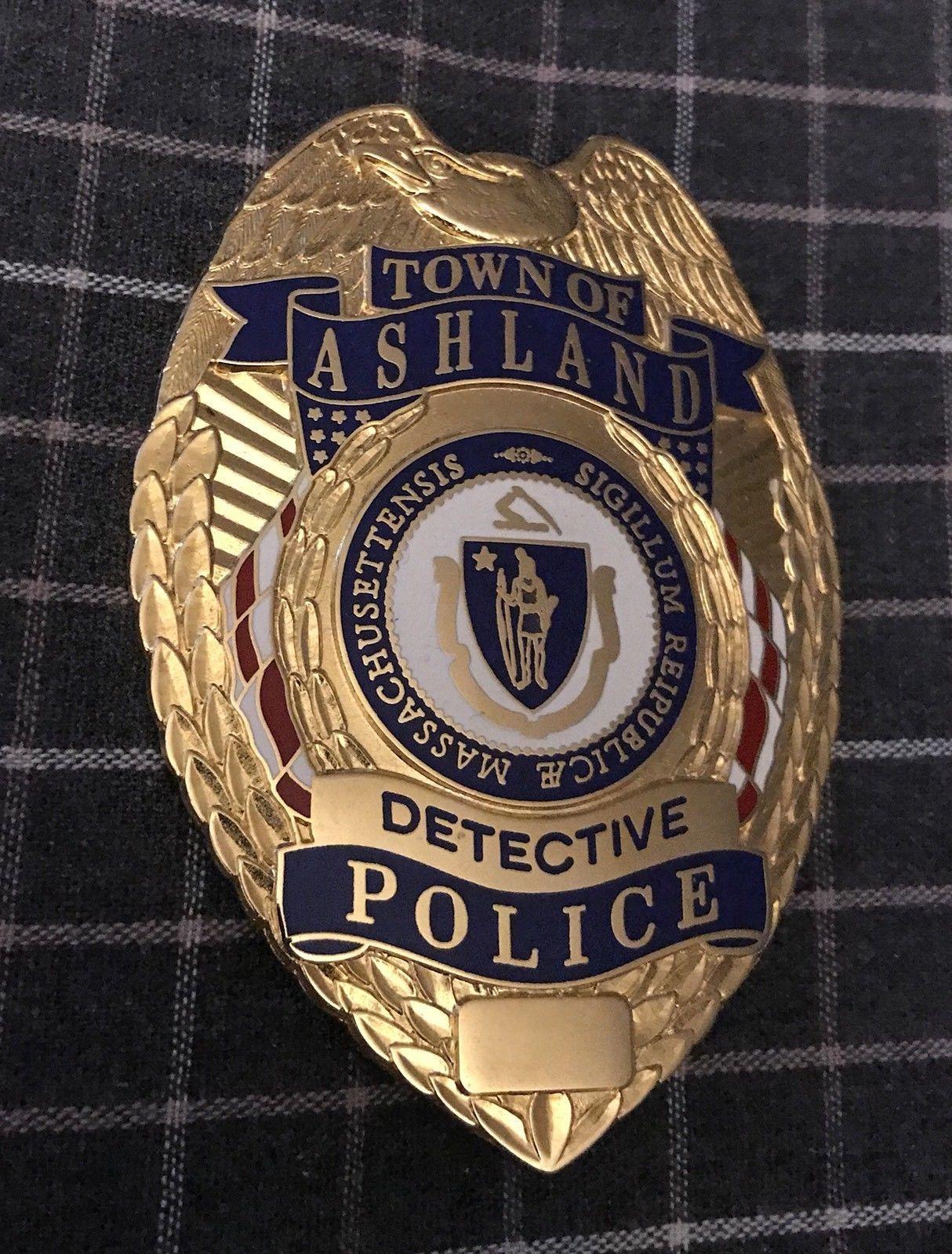 Detective Town Of Ashland Police G R Davis Police Badge Police Detective Police